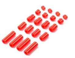 타미야,95400,TAMIYA, LW Pla Spacer Set 5 Type Red
